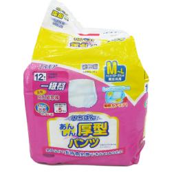 日本一級幫內褲型成人紙尿褲 (金裝) (中碼-12片裝;大碼-10片裝)